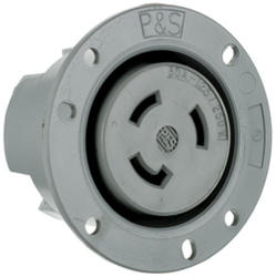 Legrand Turnlok® Gray 30-Amp 125/250-Volt Locking Flanged Outlet