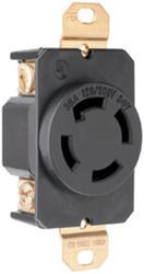 Legrand Turnlok® Black 30-Amp 3-Phase Y 120/208-Volt Locking Single Outlet