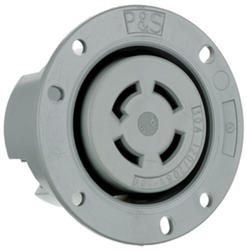 Legrand Turnlok® Gray 30-Amp 3-Phase Y 120/208-Volt Locking Flanged Outlet