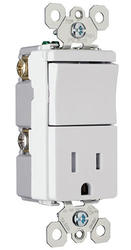Legrand TradeMaster® 1-Pole Tamper-Resistant Outlet Decorator Switch Combo