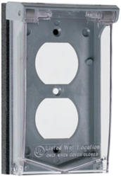 Legrand Gray/clear 1 Vertical Duplex Outlet Cover (Padlockable)