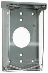 Legrand Gray/Clear 1 Vertical Single Outlet Cover (Padlockable)