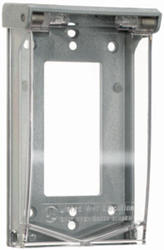 Legrand Gray/Clear 1 Vertical 4-Screw-Mount Decorator Cover (Padlockable)