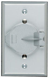 Legrand Gray 1 Recessed Flanged Inlet Cover with Inlet