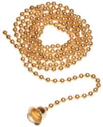 Legrand Brass Bead Pull Chain