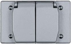 Legrand Gray 1 Horizontal Duplex 4-Screw-Mount Cover