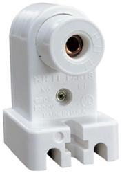Legrand White 600-Watt 1,000-Volt Fluorescent Pedestal-Type Lampholder