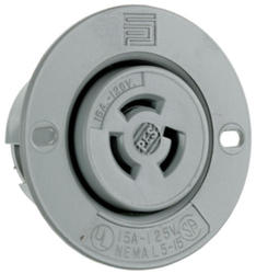Legrand Turnlok® Gray 15-Amp 125-Volt Locking Flanged Outlet