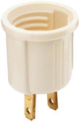 Legrand Ivory Medium Base Incandescent Outlet to Lampholder