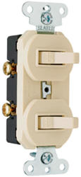 Legrand 1-Pole/1-Pole Toggle Switch