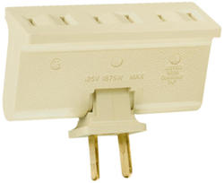 Legrand White Plug-In Swivel Adapter (1 to 3 Outlets)