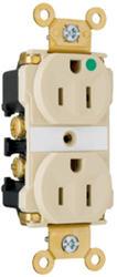 Legrand 15-Amp LED Illuminated Hospital Grade Outlet