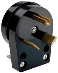 Legrand Black 30-Amp 125-Volt Travel Trailer Angle Plug