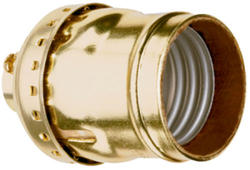 Legrand Metal Shell Incandescent Medium Base Lampholder
