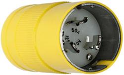Legrand Turnlok® Yellow 50-Amp 125/250-Volt Locking Plug
