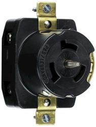 Legrand Turnlok® Black 50-Amp 125/250-Volt Locking Outlet