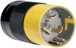 Legrand Turnlok® Black/White 50-Amp 3-Phase 480-Volt Locking Plug