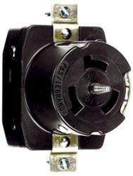 Legrand Turnlok® Black 50-Amp 3-Phase 480-Volt Locking Outlet