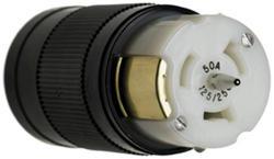Legrand Turnlok® Black/White 50-Amp 3-Phase 250-Volt Locking Connector