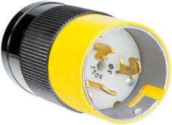 Legrand Turnlok® Black/White 50-Amp 3-Phase 250-Volt Locking Plug