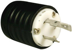 Legrand Turnlok® Black/White 30-Amp 125-Volt Locking Plug