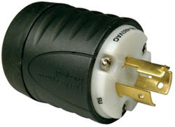 Legrand Turnlok® Black/White 14A 125-480-Volt Locking Plug