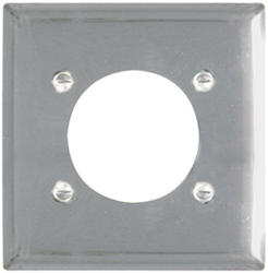 "Legrand Pass & Seymour Chrome Power Outlet Wall Plate with 2.156"" Hole for 2.125"" Diameter"