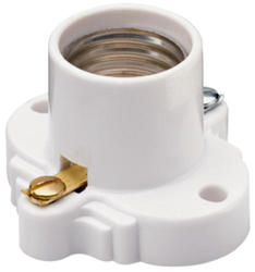 Legrand White Medium-Base Incandescent Lampholder