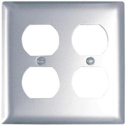 Legrand Pass & Seymour Aluminum 2-Duplex Outlet Wall Plate