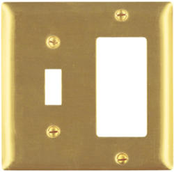 Legrand Pass & Seymour Smooth Brass 1-Toggle Switch 1-Decorator Wall Plate