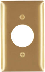 Legrand Pass & Seymour Smooth Brass Single Outlet Wall Plate