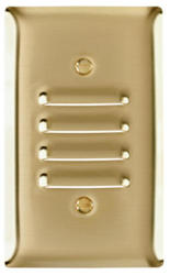Legrand Pass & Seymour  Smooth Brass Vertical Louver Wall Plate