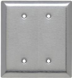Legrand Pass & Seymour 430 Stainless Steel 2-Blank Box-Mounted Wall Plate