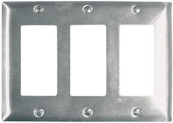 Legrand 302 Stainless Steel 3-Decorator Wall Plate