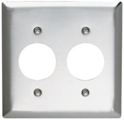 Legrand 302 Stainless Steel 2-Single Outlet Wall Plate