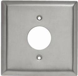 Legrand 302 Stainless Steel Single Outlet Center Opening Wall Plate