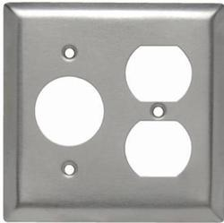 Legrand 302 Stainless Steel 1-Single Outlet 1-Duplex Outlet Wall Plate