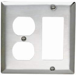 Legrand 302 Stainless Steel 1-Duplex Outlet 1-Decorator Wall Plate