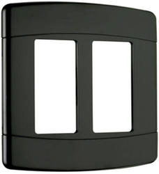 Pass & Seymour  Black 2-Gang Curved Wall Plate