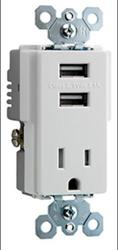 Legrand USB Charger with Tamper-Resistant Receptacle