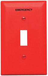 Legrand Pass & Seymour TradeMaster® Nylon Red Toggle Emergency-Printed Wall Plate