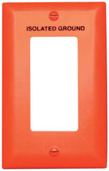 Legrand Pass & Seymour TradeMaster® Orange Nylon Decorator Printed Isolated Ground Wall Plate