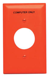 Legrand Pass & Seymour TradeMaster® Orange Nylon Single-Outlet Printed (Computer Only) Wall Plate