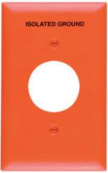 Legrand Pass & Seymour TradeMaster® Orange Nylon Single Receptacle Printed Isolated Ground Wall Plate