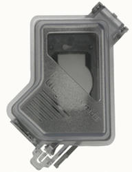 Legrand Gray/Clear 1-Gang Deep While-In-Use Cover