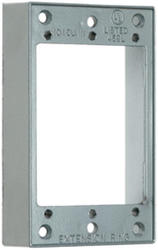 Legrand 9.5 cu in. Gray 1-Gang Extension Ring without Holes