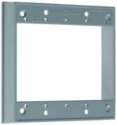 Legrand 16.3 cu in. Gray 2-Gang Extension Ring without Holes