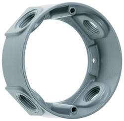"""Legrand Gray Round Extension with (4) 1/2"""" Holes"""