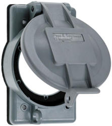 Legrand Gray 1 Flanged Inlet/Outlet Cover