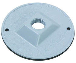 "Legrand 1-Gang Round Cover with 1/2"" Hole"